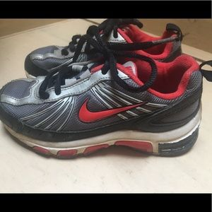 NIKES BOYS SHOES SIZE 12 red, black and silver